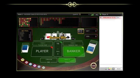 1S Baccarat Electronic
