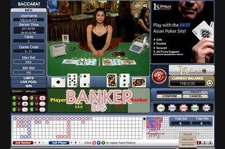 baccarat online 1scasino