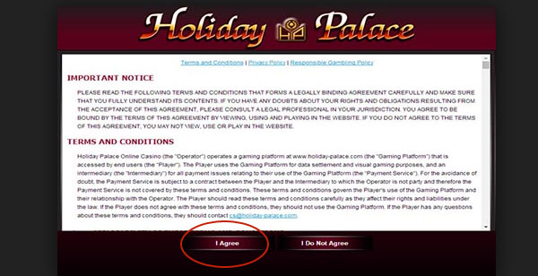 how to play holiday palace