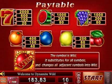 payteble dynamite wild slot